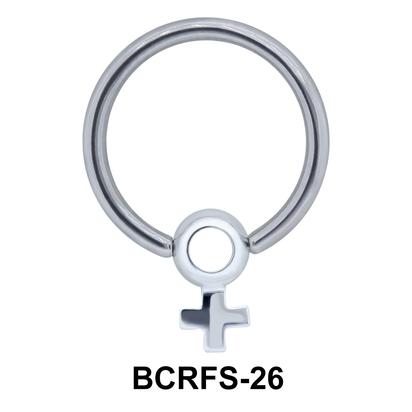 Plus Sized Charm Closure Ring BCRFS-26