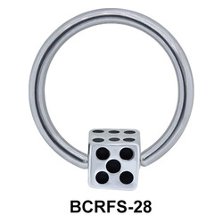 Dice Shaped Closure Rings Charms BCRFS-28
