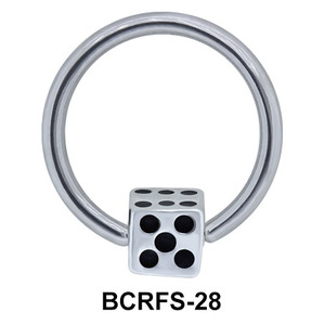 Dice Shaped Closure Rings Charms BCRFS-28