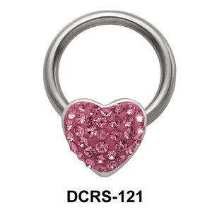 Rainbow Heart Closure Rings DCRS-121
