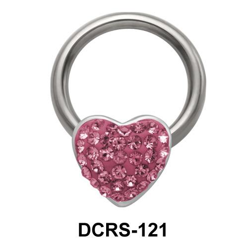 Rainbow Heart Closure Rings DCRS-121