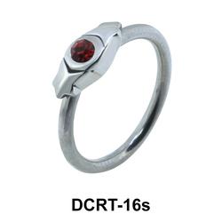 Stone Set Hinge Face Closure Ring DCRT-16s