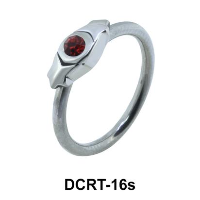 Stone Set Hinge Belly Piercing Ring DCRT-16s