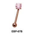 Round CZ Eyebrow Piercing EBP-67