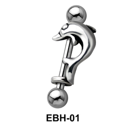 Dolphin Eyebrow Piercing EBH-01
