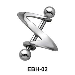 Reverse Z Eyebrow Piercing EBH-02