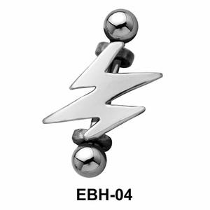 Lightning Shaped Eyebrow Piercing EBH-04
