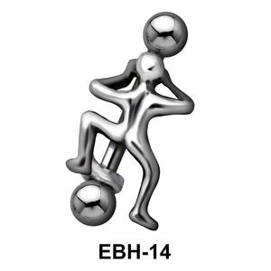 Dancing Male Eyebrow Piercing EBH-14