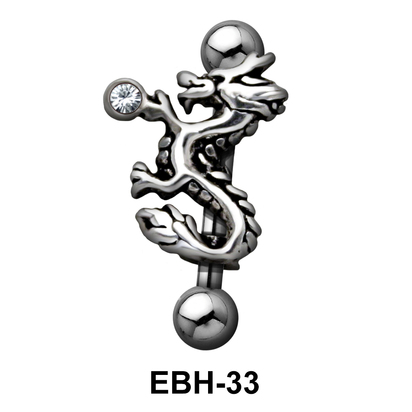 Dragon Shaped Eyebrow Piercing EBH-33