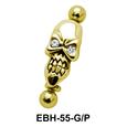 Skull Shaped Eyebrow Piercing EBH-55