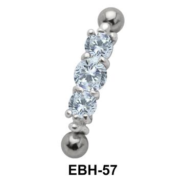 Multiple CZ Eyebrow Piercing EBH-57
