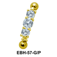 Multiple CZ Eyebrow Piercing EBH-57