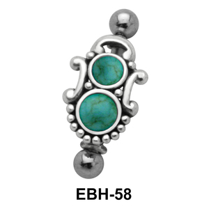 Antique Design Eyebrow Piercing EBH-58