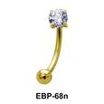 Round CZ Eyebrow Piercing EBP-68