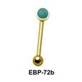 3 mm. Turquoise Eyebrow Piercing EBP-72