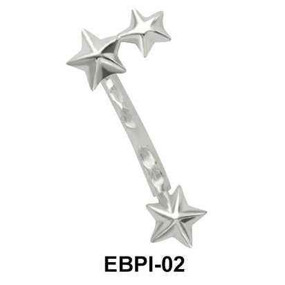 Star Eyebrow Parallel Push-In EBPI-02