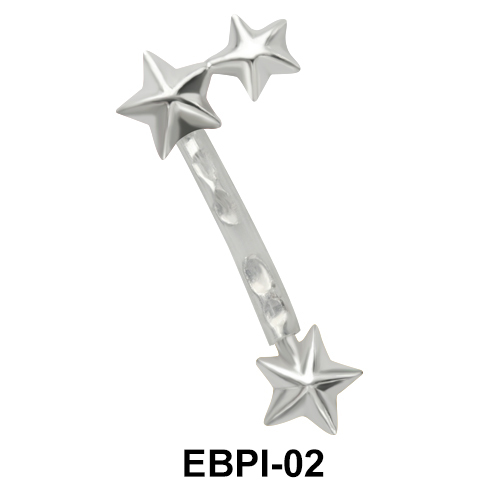 Star Eyebrow Parallel Push-In EBPI-02