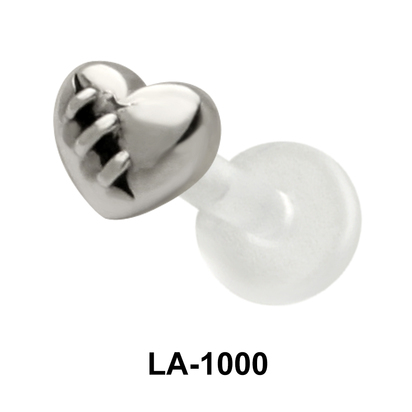 Stitched heart Shaped Labrets Push-in LA-1000