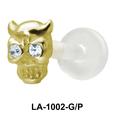 Horny Skull Shaped Labrets Push-in LA-1002
