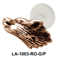 Wolf Face Shaped Labrets Push-in LA-1003