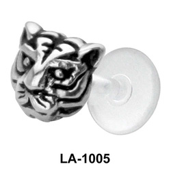 Tiger Face Shaped Labrets Push-in LA-1005