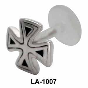 Fan Shaped labrets Push-in LA-1007