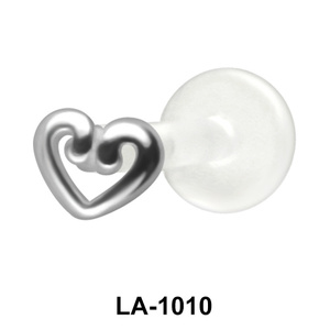 Hollow Heart Labrets Push-in LA-1010