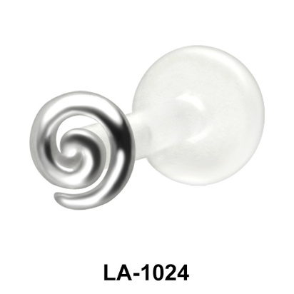 Spiral Shaped Labrets Push-in LA-1024