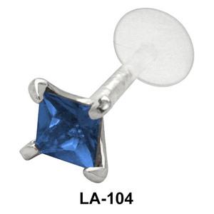 Diamond Stone labrets Push-in LA-104