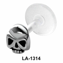Hollow Skull Shaped Labrets Push-in LA-1314