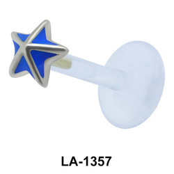 Enamel Star Labret Push-in LA-1357