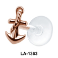 Anchor with Rope Shaped Labrets Push-in LA-1363