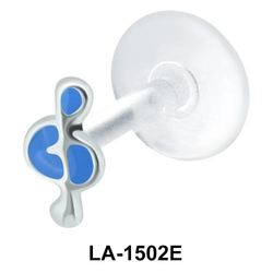 Blue Stone Musical Note Labrets Push-in LA-1502E