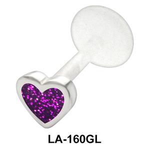 Purple Heart Labret Piercing with PTFE LA-160GL
