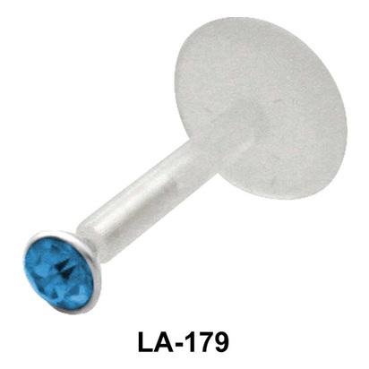 Small Stone Labret Silver LA-179