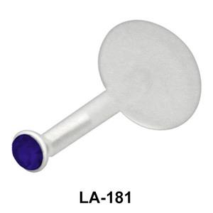 Amethyst Bezel Set Labret Push-in LA-181