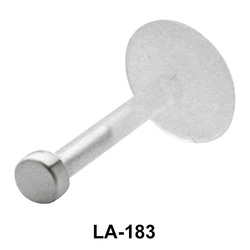Solid Pin Shaped Labret Silver LA-183