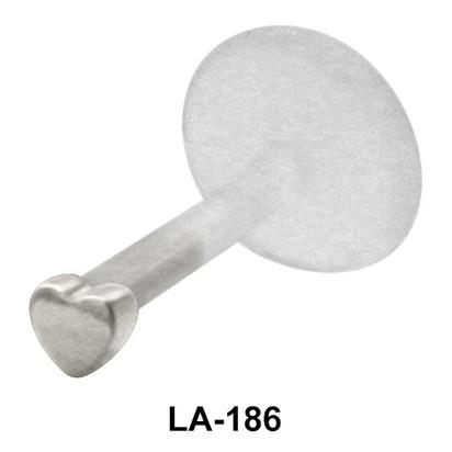 Heart Shaped Labrets Push-in LA-186