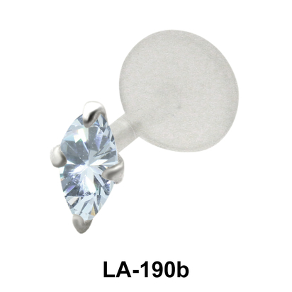 Prong Set Marquise Stone labrets Push-in LA-190b