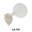 Pear Shaped Stone Labrets Push-in LA-191