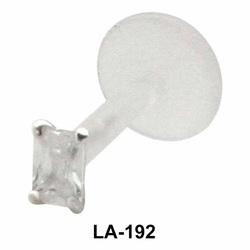 Princess Cut Stone Labrets Push-in LA-192