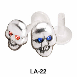 Devil Face Shaped Labrets Push-in LA-22