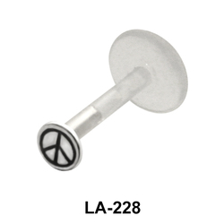 Peace Sign Labrets Push-in LA-228