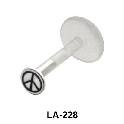 Peace Sign Labrets Push-in LA-228