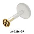 Small Peace Sign Labrets Push-in LA-228s