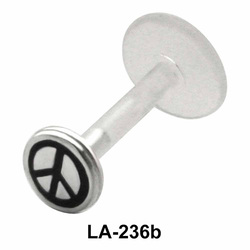 Peace Symbol Labrets Push-in LA-236b