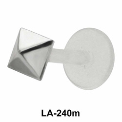 Pyramid Shaped Silver 925 Labrets Push-in LA-240m