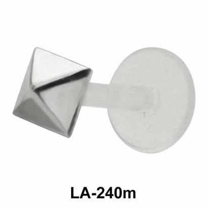 Pyramid Shaped Silver 925 Labrets Push-in LA-240m