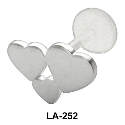 Triple Hearts Shaped Labrets Push-in LA-252