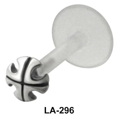 Designer Cross Labret Piercing with PTFE LA-296